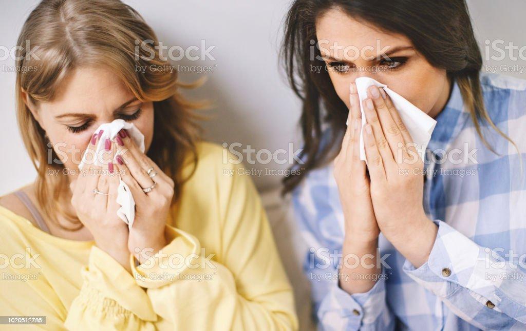 Flu season. stock photo