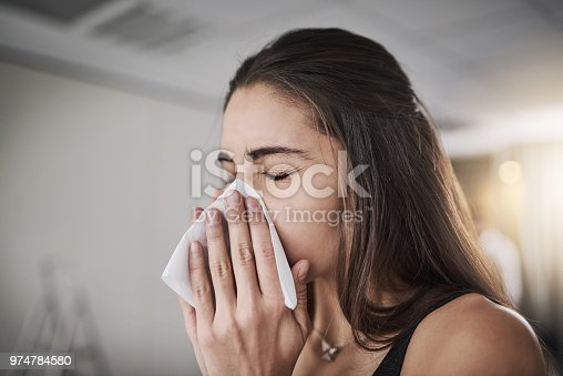 istock Flu season's coming knocking 974784580