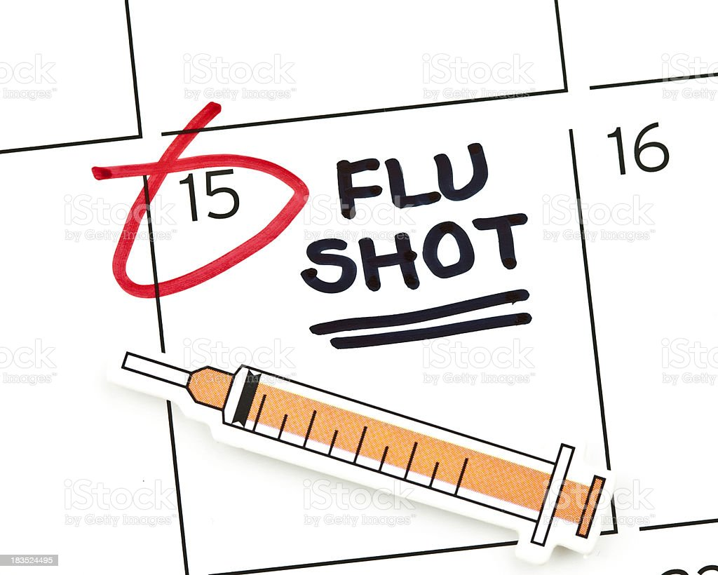 Flu Shot Appointment royalty-free stock photo