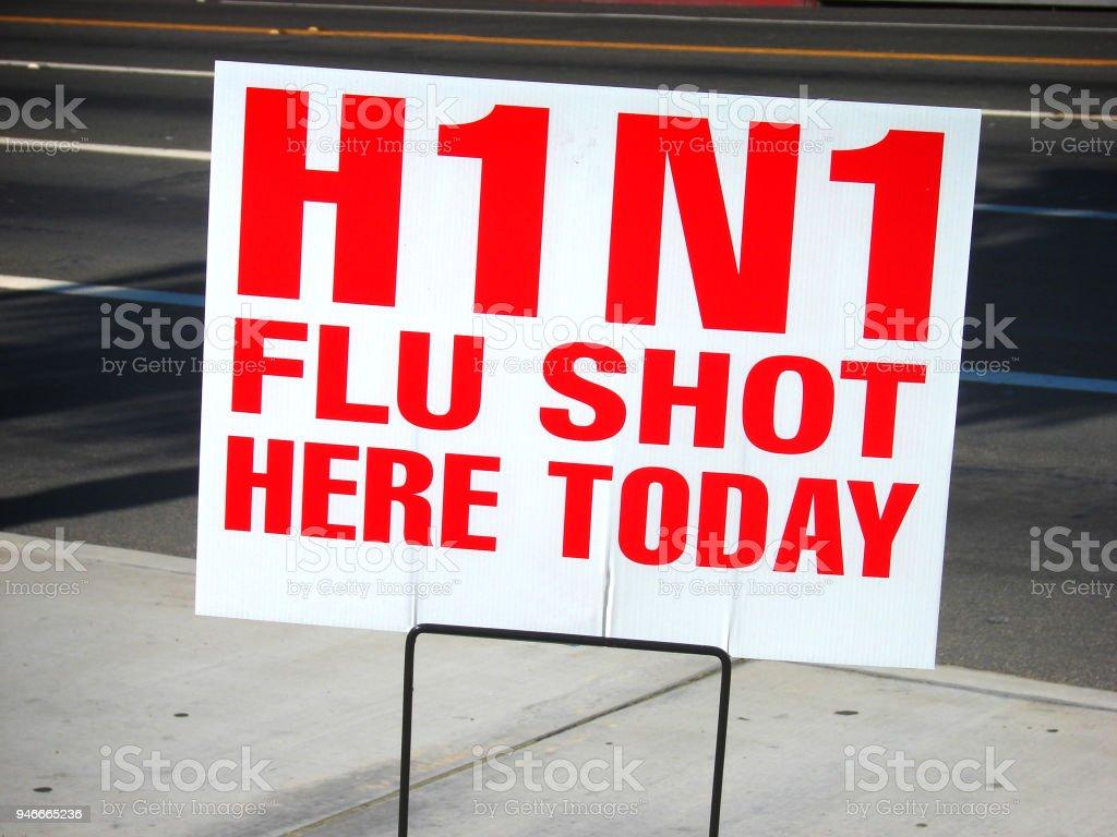 flu shots stock photo