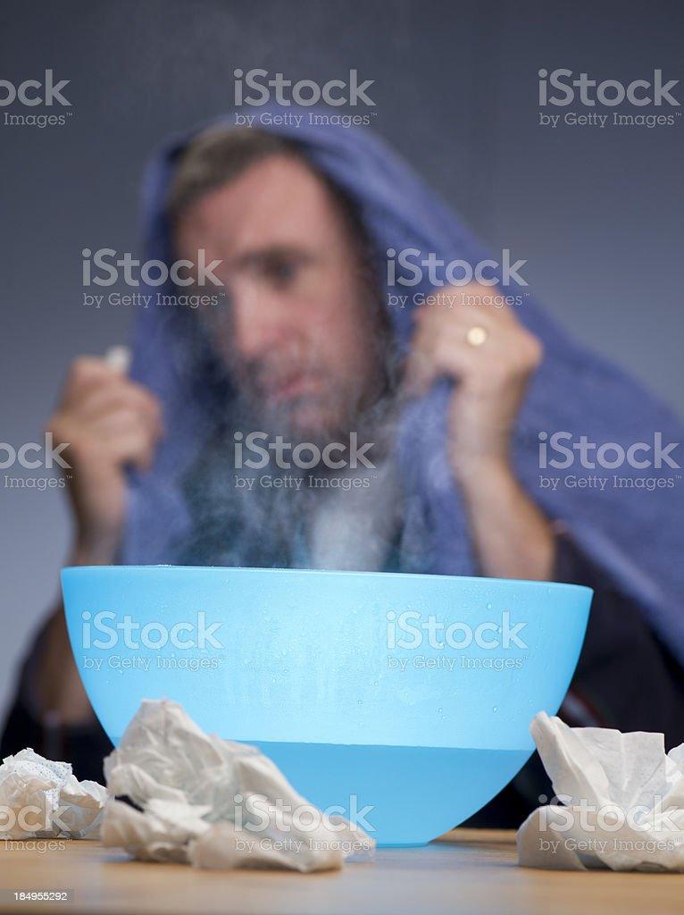 flu vapours stock photo