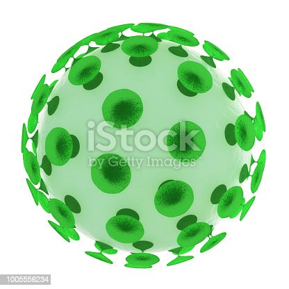 istock Flu Virus Structure Isolated On White Background 1005556234