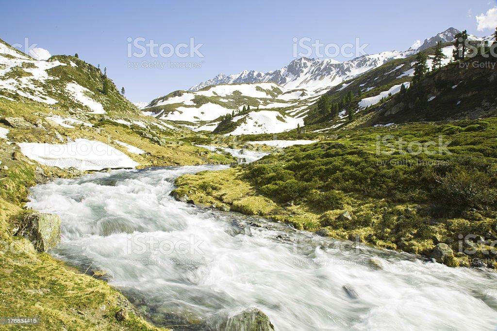 Flueela creek stock photo