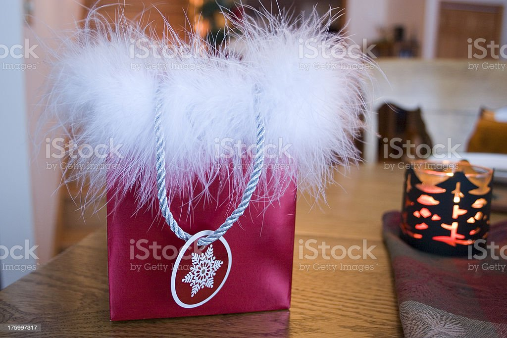 Fluff-topped Gift Bag royalty-free stock photo