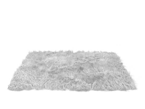 Fluffy carpet stock photo