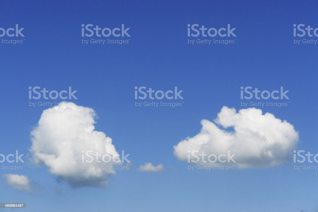 fluffy Clouds In The Sky royalty-free stock photo