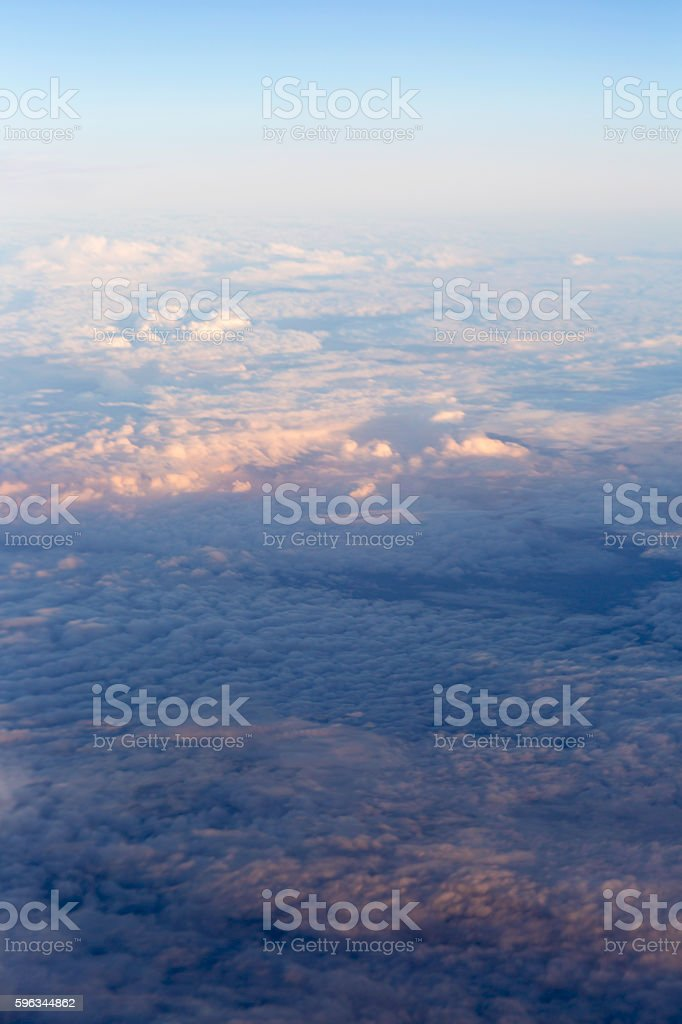 Fluffy clouds over the earth, the landscape. royalty-free stock photo