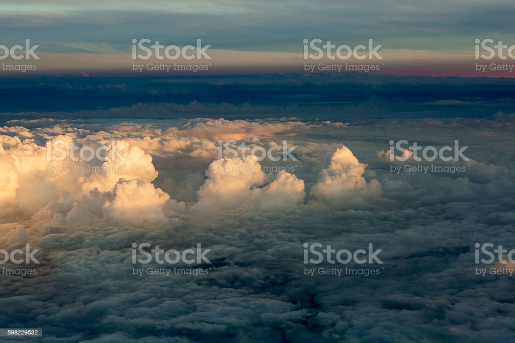 Fluffy clouds over the earth, the landscape. foto royalty-free