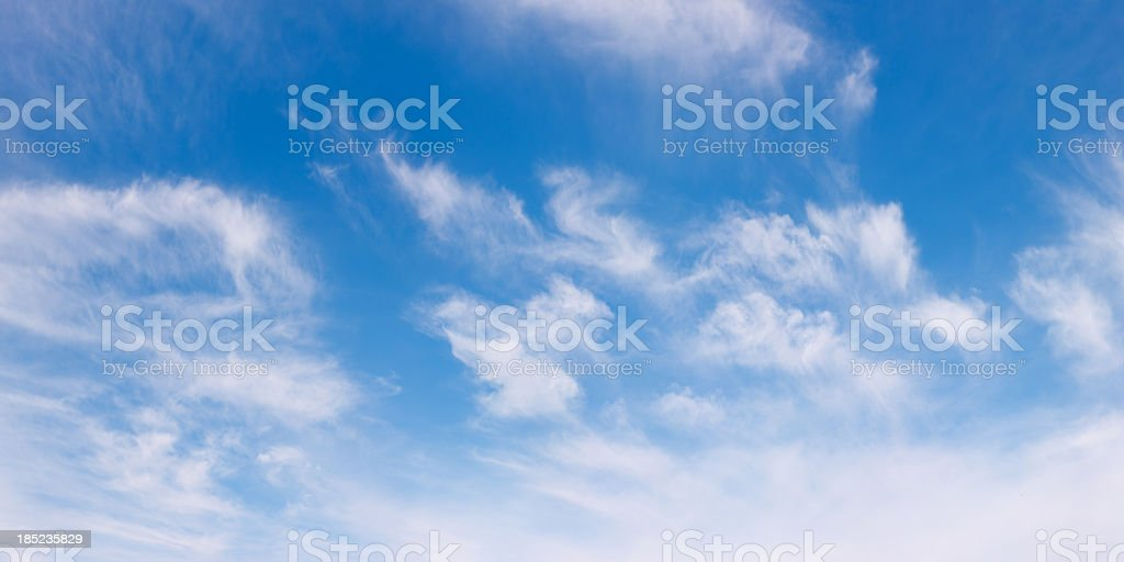 Fluffy Clouds Panorama royalty-free stock photo