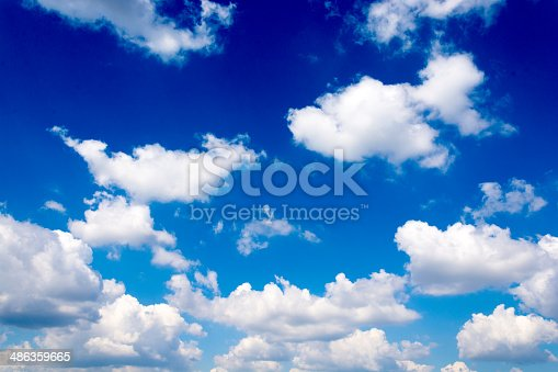 istock Fluffy clouds 486359665