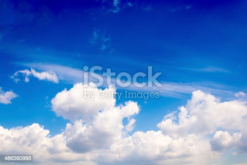 istock Fluffy clouds 486360995