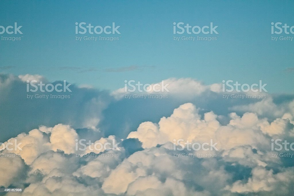 Fluffy Clouds stock photo