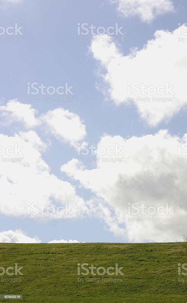 Fluffy clouds royalty-free stock photo