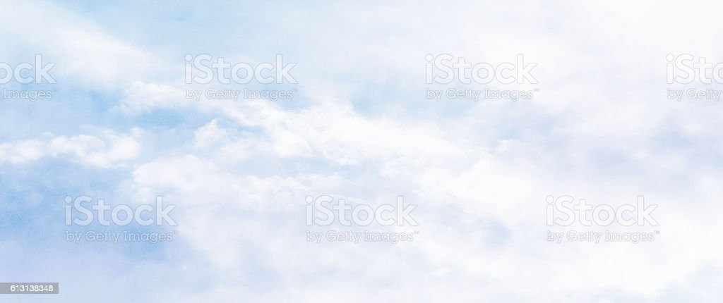 Fluffy Clouds Sky stock photo
