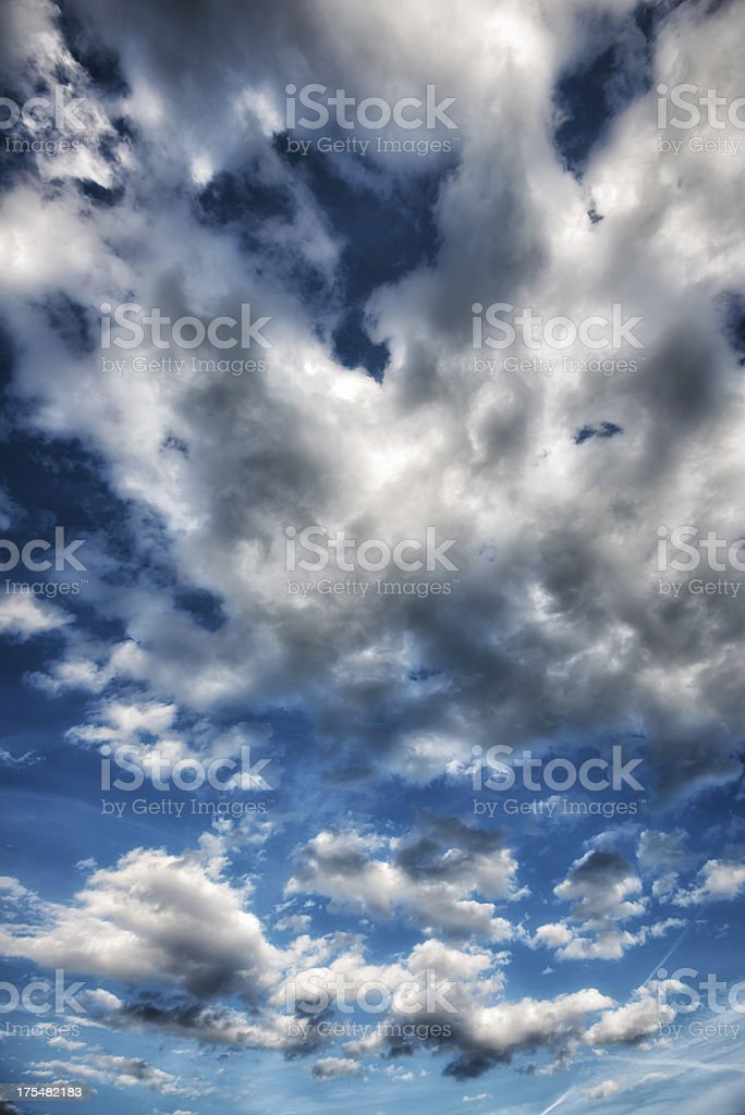 fluffy cloudscape royalty-free stock photo