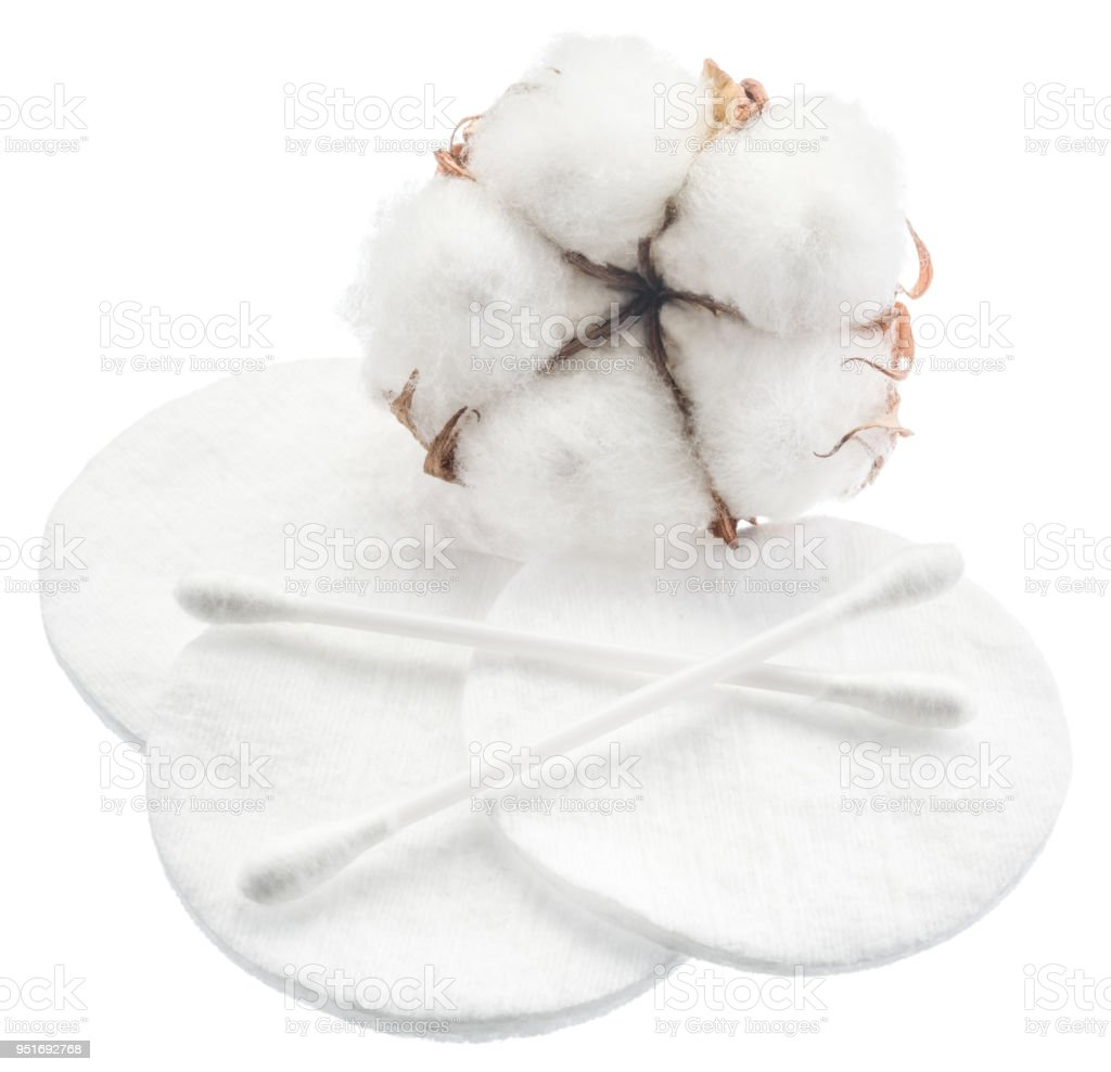 Fluffy Cotton Ball And Swabs Pads Stock Photo More Bal Royalty Free