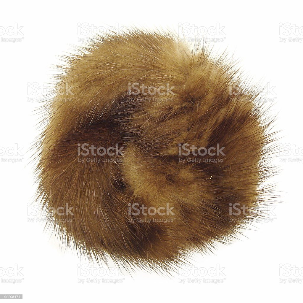 Fluffy, furry dot stock photo