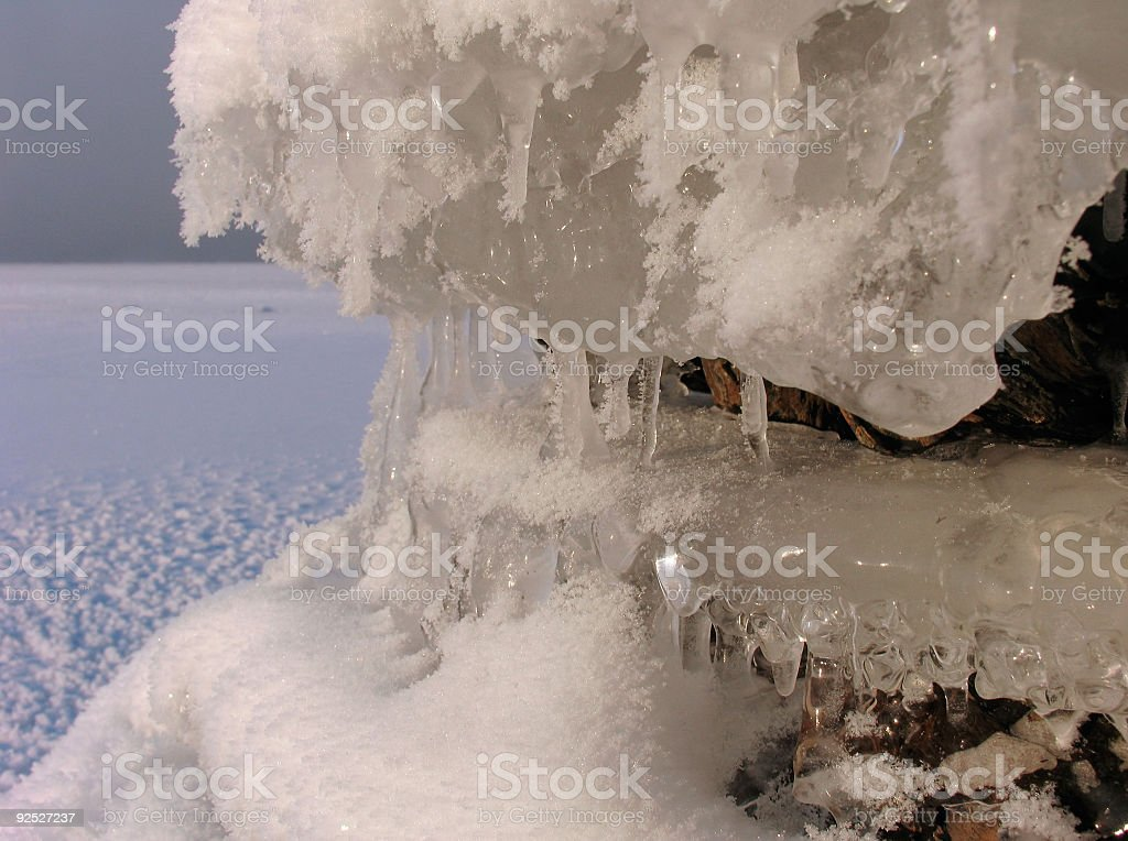 Fluffy Icicles royalty-free stock photo