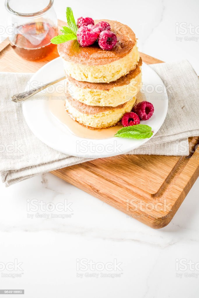 Fluffy Japan pancakes royalty-free stock photo