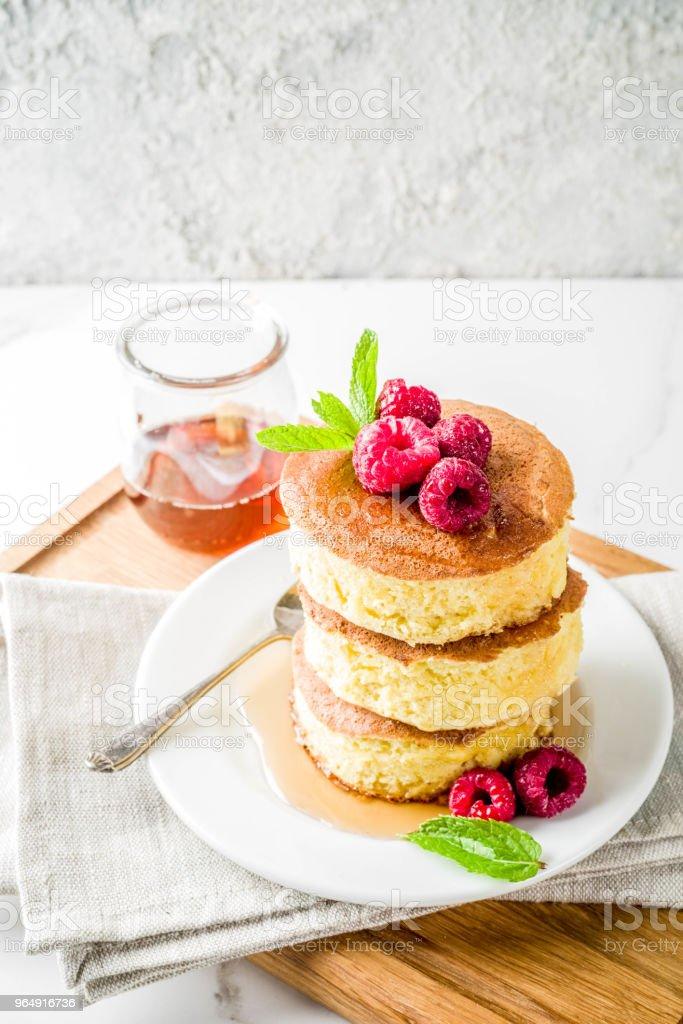 Fluffy Japan pancakes royalty-free stock photo