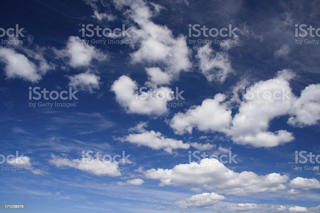 Fluffy little clouds... royalty-free stock photo