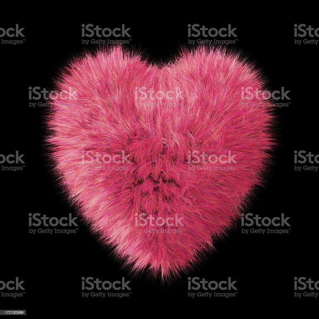 Fluffy Pink Heart(XXL) royalty-free stock photo