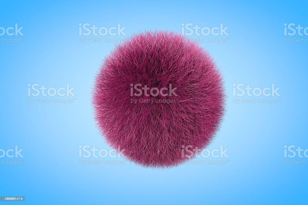 Fluffy Purple Fur Ball stock photo