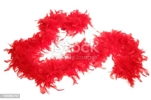 red boa on white