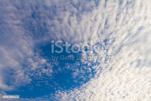 Fluffy Ripply Clouds Background Stock Photo & More Pictures of 2015