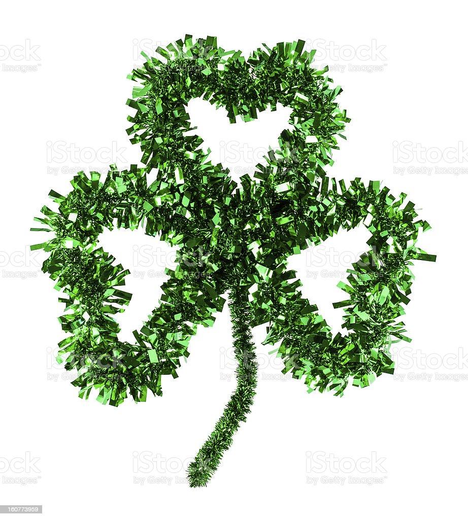 Fluffy Three Leaf Handmade Irish Shamrock Clover royalty-free stock photo