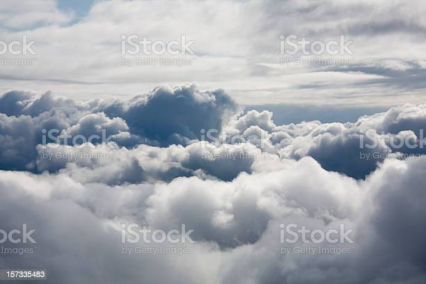 Photo of Fluffy white clouds from above