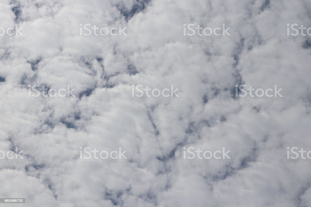 Fluffy white clouds, full frame cloudscape zbiór zdjęć royalty-free