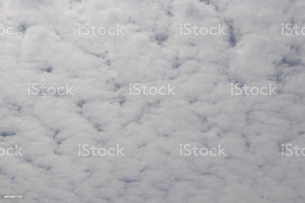 Nuages blancs pelucheux, cloudscape plein cadre - Photo de Beauté de la nature libre de droits