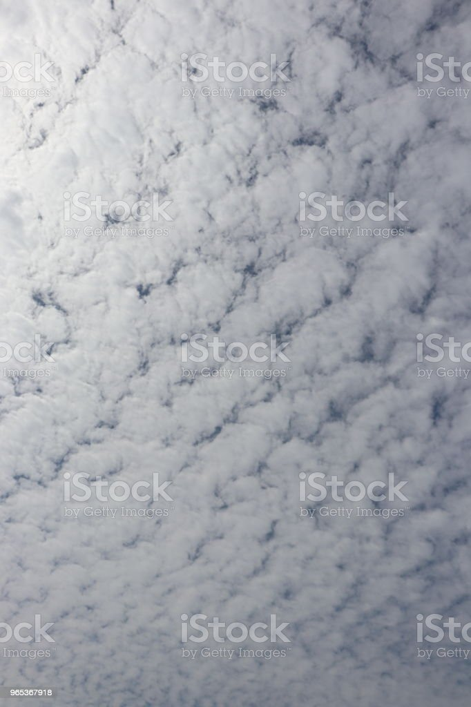 Fluffy white clouds, full frame cloudscape royalty-free stock photo