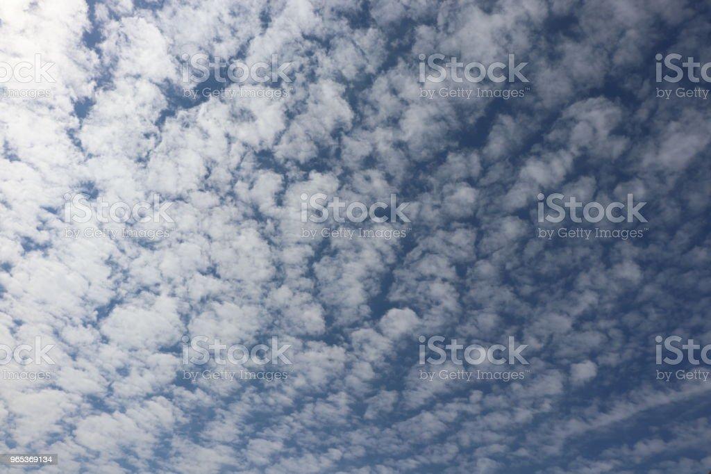 蓬鬆的白雲, 全幀 cloudscape - 免版稅全畫面圖庫照片