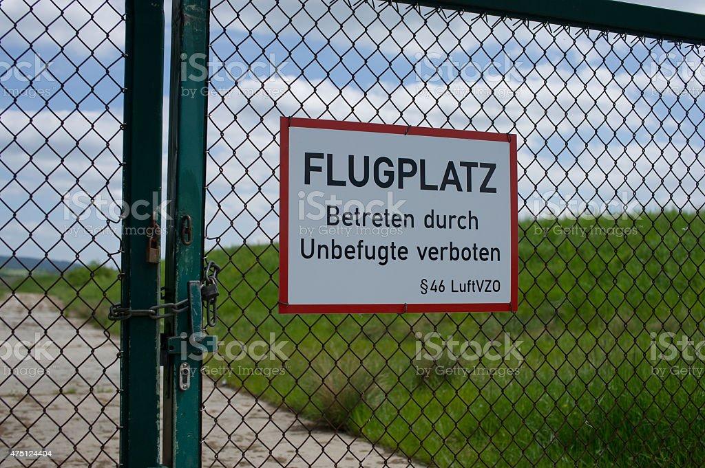 Flugplatz stock photo