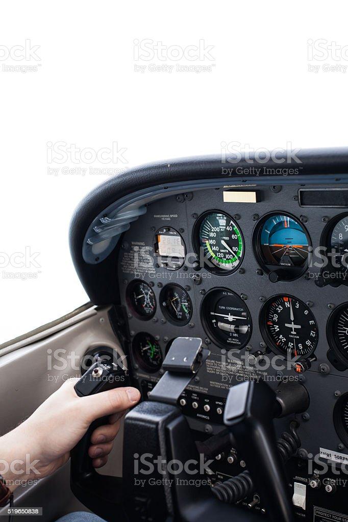 Flugzeug-Cockpit stock photo