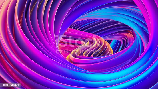 1038727610istockphoto Fluid design twisted shapes holographic 3D abstract background iridescent wallpaper 1033846486