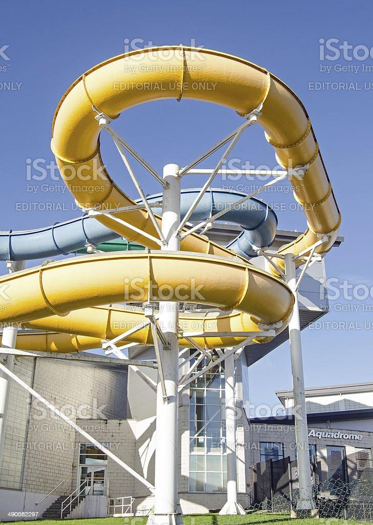 Flumes, Basingstoke Aquadrome stock photo