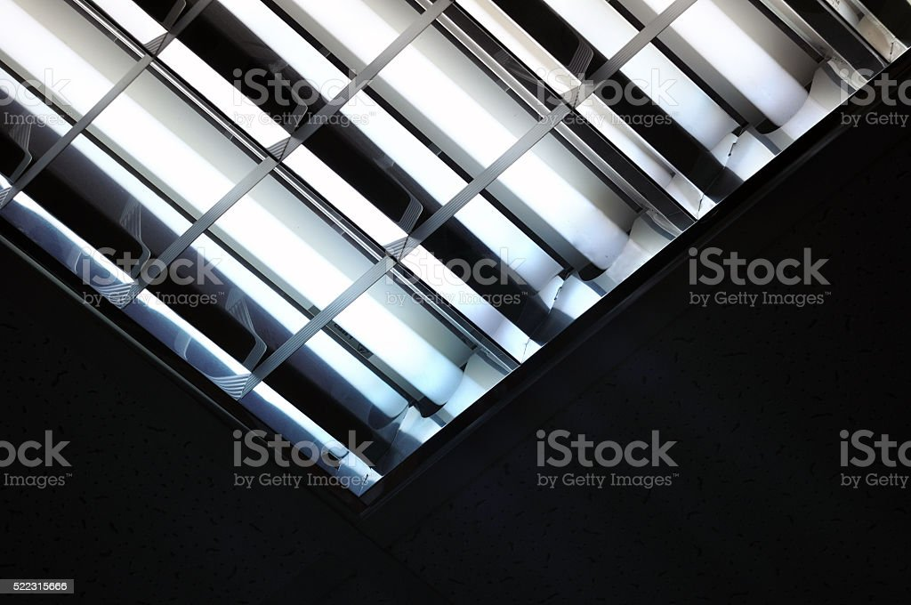 fluorescent lamp stock photo
