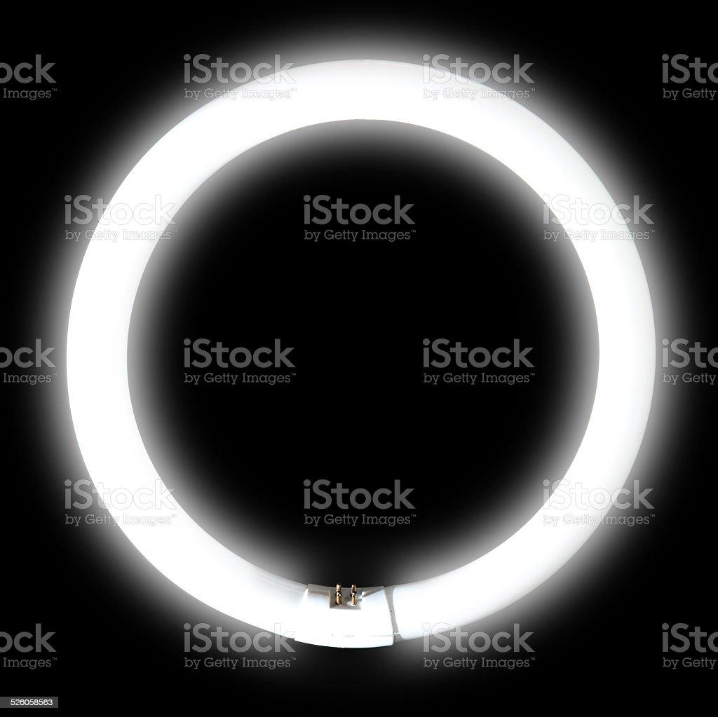Fluorescent lamp stock photo