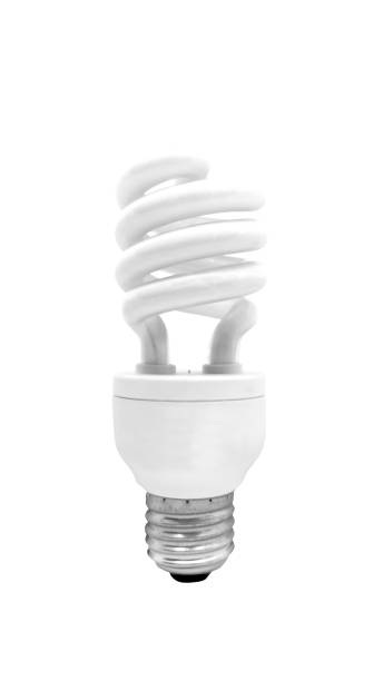 Fluorescent Light Bulb Fluorescent Light Bulb isolated on white background with clipping path canadian football league stock pictures, royalty-free photos & images