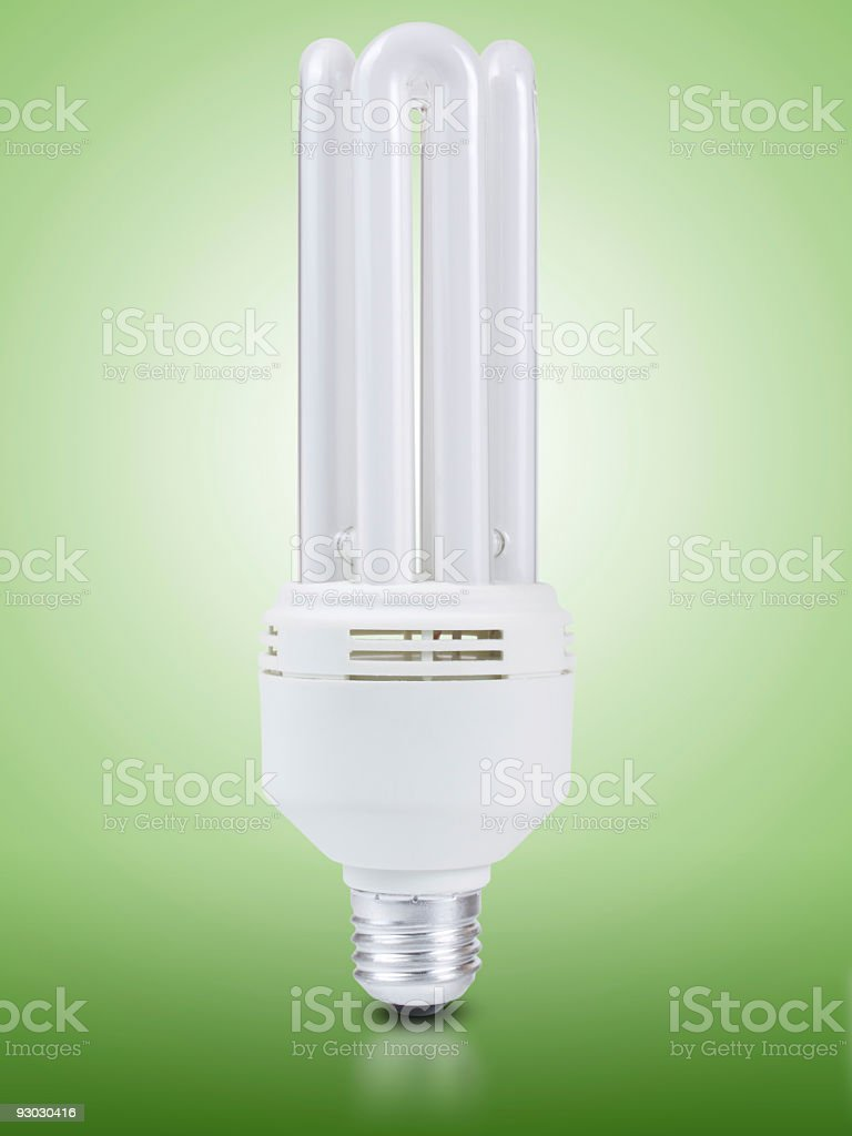 fluorescent light bulb w clipping path royalty-free stock photo