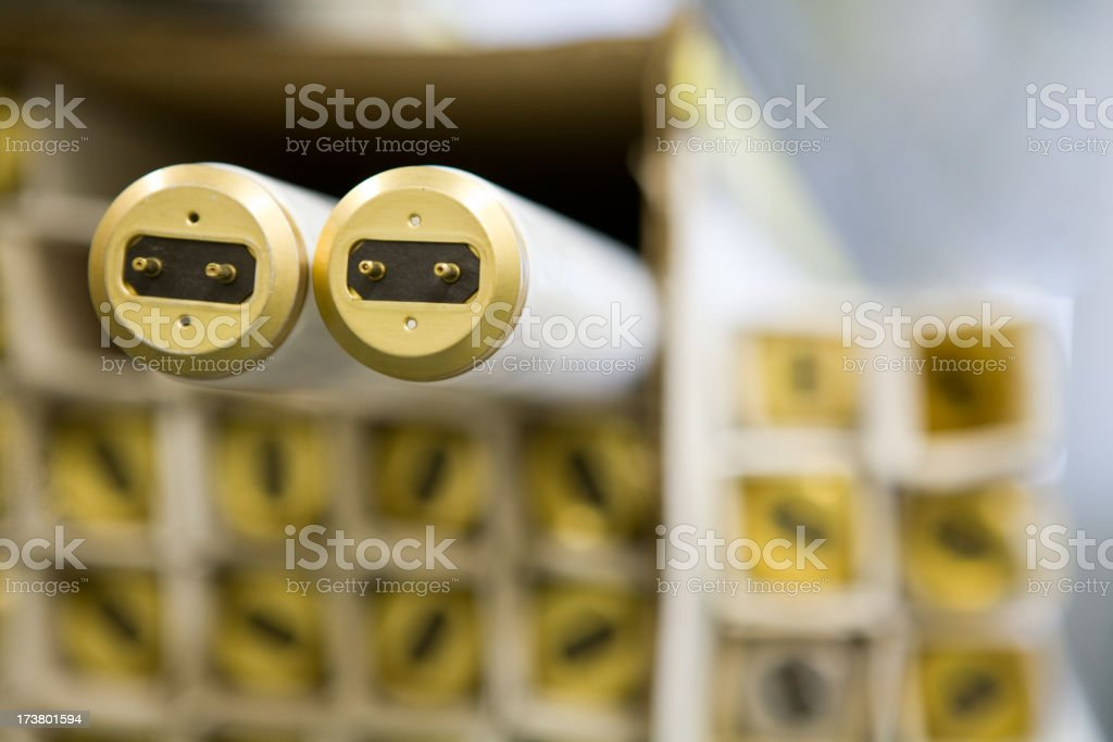 Fluorescent Light Bulbs royalty-free stock photo