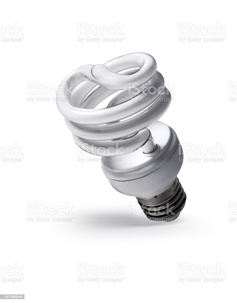 Fluorescent Light isolated on white royalty-free stock photo