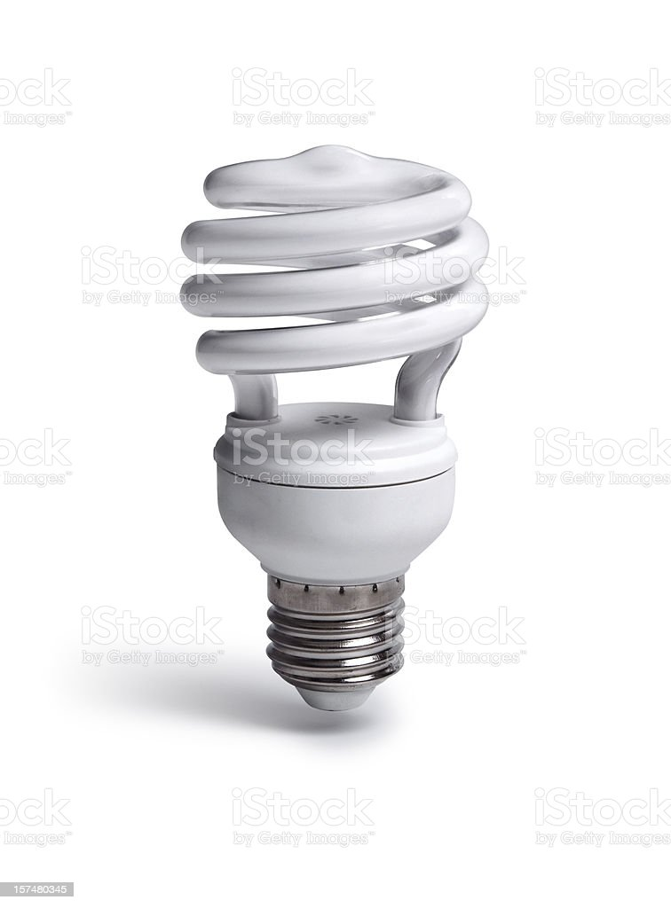 Fluorescent Light with Clipping Path royalty-free stock photo