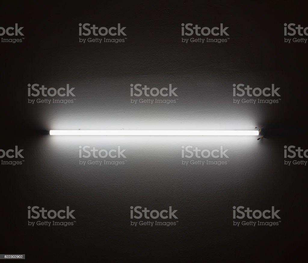 fluorescent lighting turn on stock photo