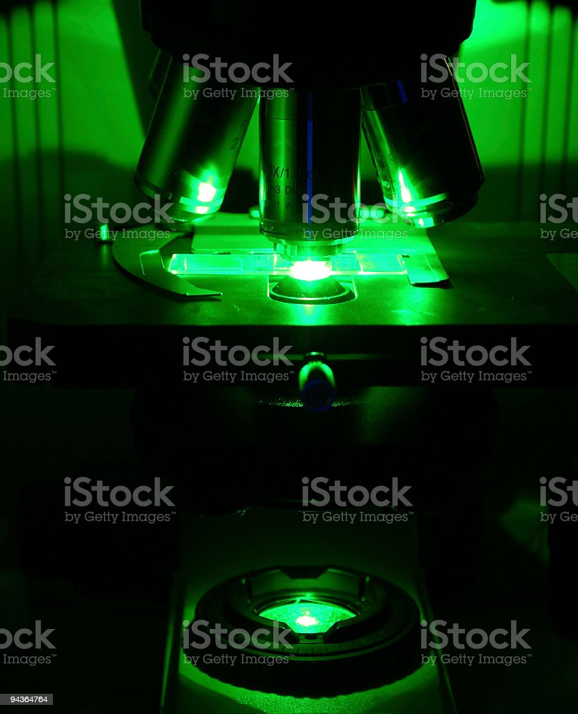 Fluorescent microscope royalty-free stock photo