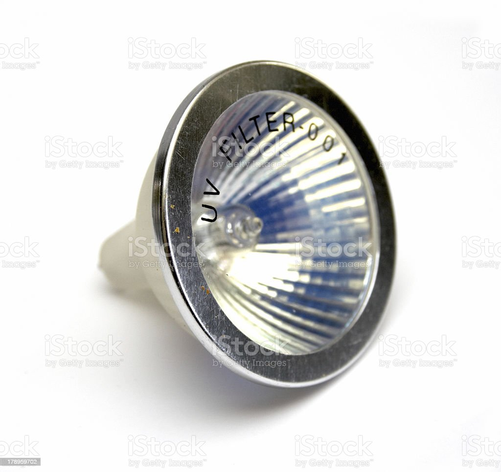 Fluorescent small spot light bulb royalty-free stock photo