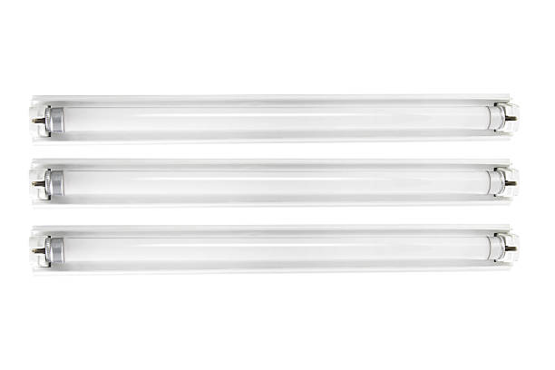 fluorescent tubes - fluorescent light stock pictures, royalty-free photos & images